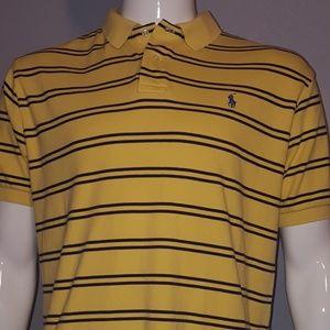 Ralph Lauren Men's Polo Shirt Yellow Black Pre Own